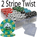 200 Ct - Pre-Packaged - 2 Sripe Twist 8 G - Acrylic Tray