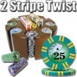 200 Ct - Pre-Packaged - 2 Sripe Twist 8 G - Carousel