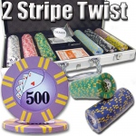 300 Ct - Pre-Packaged - 2 Stripe Twist 8 G - Aluminum