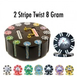 300 Ct - Pre-Packaged - 2 Stripe Twist - Wooden Carousel
