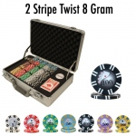 300 Ct - Pre-Packaged - 2 Stripe Twist 8 G - Claysmith