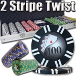 500 Ct - Pre-Packaged - 2 Stripe Twist 8 G - Aluminum