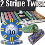 750 Ct - Pre-Packaged - 2 Stripe Twist 8 G - Aluminum