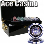 500 Ct - Pre-Packaged - Ace Casino 14 Gram - Black Mahogany