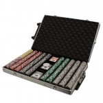 Pre-Pack - 1000 Ct Ace King Suited Chip Set Rolling Case
