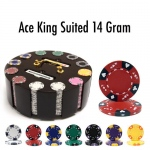 300 Ct - Pre-Packaged - Ace King Suited 14 G Wooden Carousel