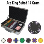 Pre-Pack - 300 Ct Ace King Suited Chip Set Claysmith Case