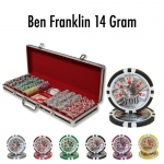 500 Ct - Pre-Packaged - Ben Franklin 14 G - Black Aluminum