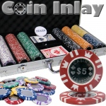 300 Ct Aluminum Pre-Packaged - Coin Inlay 15 Gram Chips