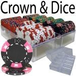 200 Ct - Pre-Packaged - Crown & Dice - Acrylic Tray