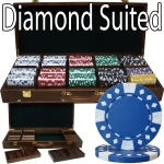 500 Ct - Pre-Packaged - Diamond Suited 12.5 G - Walnut Case