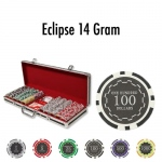 500 Ct - Pre-Packaged - Eclipse 14 Gram - Black Aluminum