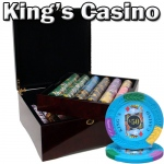 750 Ct - Pre-Packaged - Kings Casino 14 G - Mahogany Case