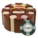 "200Ct Claysmith Gaming ""Milano"" Chip Set in Carousel Case"