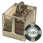 "600Ct Claysmith Gaming ""Milano"" Chip Set in Acrylic Case"