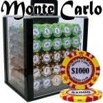 Pre-Pack - 1000 Ct Monte Carlo Chip Set Acrylic Case