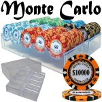 Pre-Pack - 200 Ct Monte Carlo Chip Set in Acrylic Tray Case