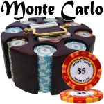 Pre-Pack - 200 Ct Monte Carlo Chip Set in Wooden Carousel