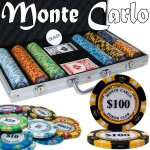 Pre-Pack - 300 Ct Monte Carlo Chip Set Aluminum Case