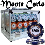 Pre-Pack - 600 Ct Monte Carlo Chip Set Acrylic Case