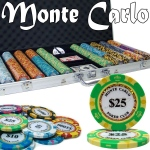Pre-Pack - 750 Ct Monte Carlo Chip Set Aluminum Case