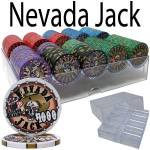 Pre-Packaged - 200 Ct Nevada Jack 10 G Chip Set Acrylic Tray