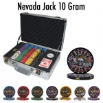 Pre-Packaged 300 Ct Nevada Jack 10 Gram Chip Set - Claysmith