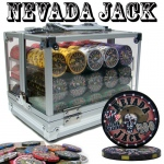 Pre-Packaged - 600 Ct Nevada Jack 10 Gram Acrylic Chip Set