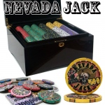Pre-Packaged - 750 Ct Nevada Jack 10g Mahogany Chip Set