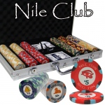 300 Ct Pre-Packaged Nile Club Poker Chip Set - Aluminum