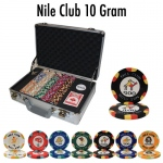 300 Ct Pre-Packaged Nile Club Poker Chip Set - Claysmith