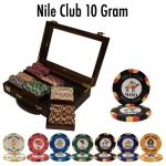 300 Ct Pre-Packaged Nile Club Poker Chip Set - Walnut