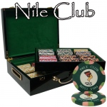 500 Ct Standard Breakout Nile Club Chip Set- High Gloss Case