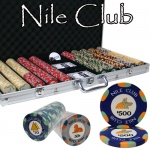 750 Ct Standard Breakout Nile Club Chip Set - Aluminum Case
