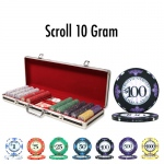 500 Ct - Pre-Packaged - Scroll 10 G - Black Aluminum