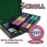 500 Ct Standard Breakout Scroll Chip Set - Hi-Gloss Case