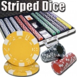 1,000 Ct - Pre-Packaged - Striped Dice 11.5 G - Aluminum