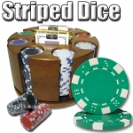200 Ct - Pre-Packaged - Striped Dice 11.5 G - Carousel