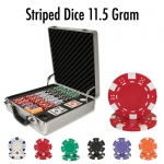500 Ct - Pre-Packaged - Striped Dice 11.5 G - Claysmith