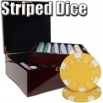 750 Ct - Pre-Packaged - Striped Dice 11.5 G - Mahogany