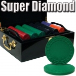 Standard Breakout 500 Ct Super Diamond Chip Set - Mahogany
