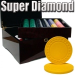 Standard Breakout 750 Ct Super Diamond Chip Set - Mahogany