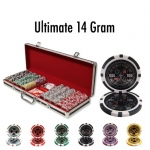 500 Ct - Pre-Packaged - Ultimate 14 G - Black Aluminum