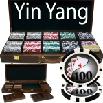 500 Ct - Pre-Packaged - Yin Yang 13.5 G - Walnut Case