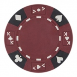 Roll of 25 - Red - Ace King Suited 14 Gram Poker Chips