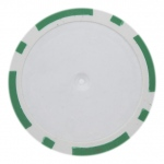 Roll of 25 - Green Blank Poker Chips - 14 Gram