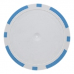 Roll of 25 - Light Blue Blank Poker Chips - 14 Gram
