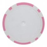Roll of 25 - Pink Blank Poker Chips - 14 Gram