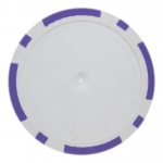 Roll of 25 - Purple Blank Poker Chips - 14 Gram