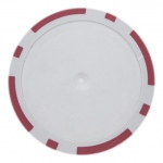 Roll of 25 - Red Blank Poker Chips - 14 Gram